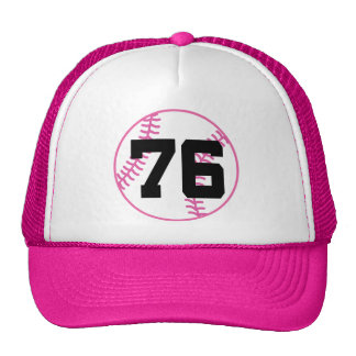 Softball Player Uniform Number 76 Gift Hats