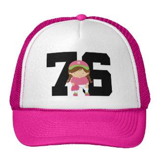 Softball Player Uniform Number 76 (Girls) Gift Mesh Hats