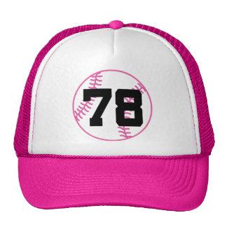 Softball Player Uniform Number 78 Gift Hat