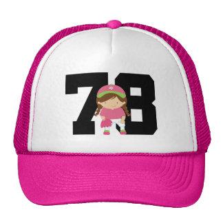 Softball Player Uniform Number 78 (Girls) Gift Mesh Hats