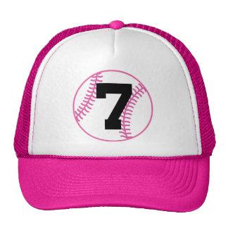 Softball Player Uniform Number 7 Gift Mesh Hat