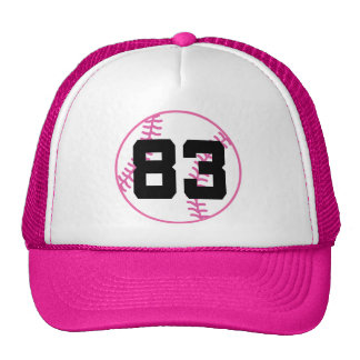 Softball Player Uniform Number 83 Gift Mesh Hat