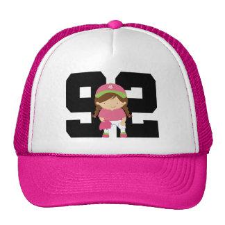 Softball Player Uniform Number 92 Girls Gift Mesh Hats