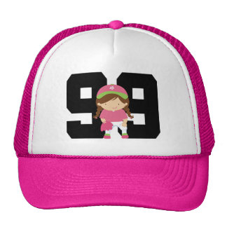 Softball Player Uniform Number 99 (Girls) Gift Cap