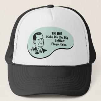 Softball Player Voice Trucker Hat