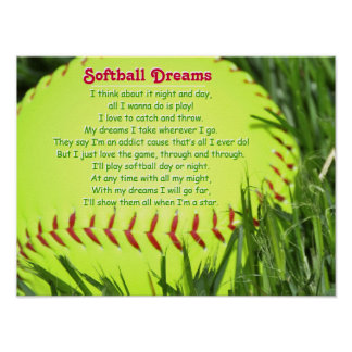 Softball Poem Poster