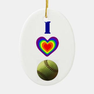 Softball Pride Ceramic Oval Decoration