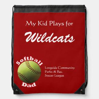 Softball Proud Dad Rucksack