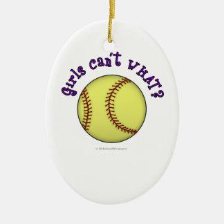 Softball-Purple Christmas Ornament