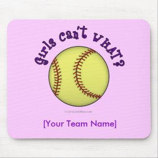Softball-Purple Mouse Pad
