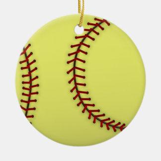 Softball-Red Christmas Ornament