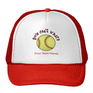 Softball-Red Mesh Hat
