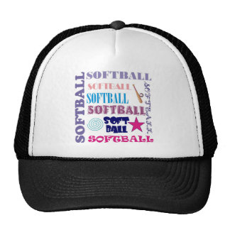 Softball Repeating Trucker Hats