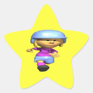 Softball Runner Star Sticker