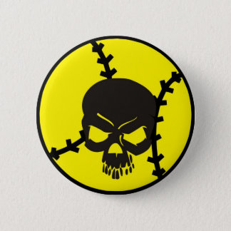 softball Skull 6 Cm Round Badge
