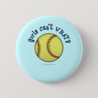 Softball-Sky Blue 6 Cm Round Badge