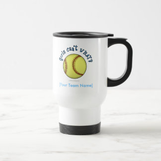 Softball-Sky Blue Travel Mug