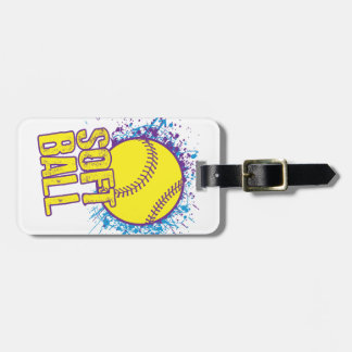 Softball Splatter Luggage Tag