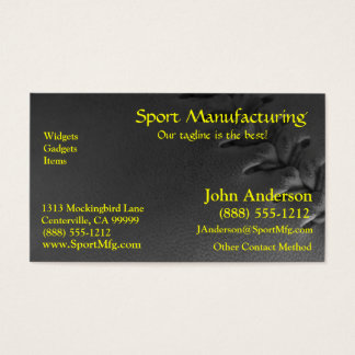 Softball Sports Field Business Card