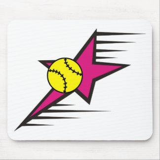 Softball Star Mouse Pad