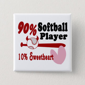Softball Sweetheart 15 Cm Square Badge