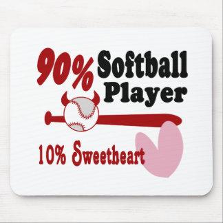 Softball Sweetheart Mouse Pads