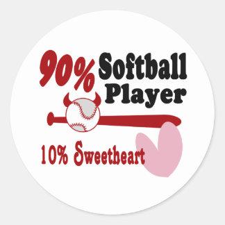 Softball Sweetheart Stickers
