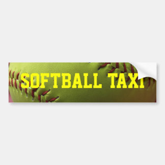 Softball Taxi Bumper Sticker