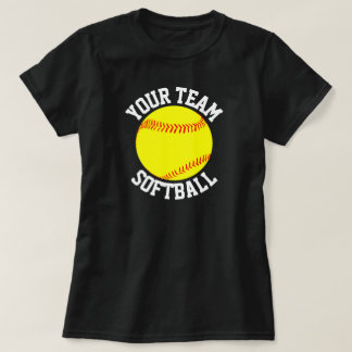 Softball Team, Player and Jersey Number T-shirt