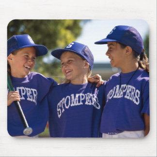 Softball teammates mouse pad