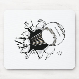 softball tearing through fast ball graphic mouse mat