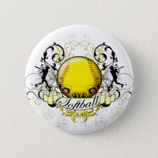 Softball Tribal 6 Cm Round Badge
