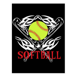Softball Tribal Postcard