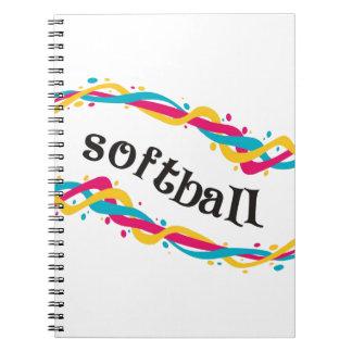 Softball Twists Notebooks