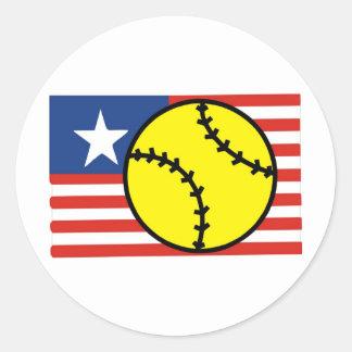 Softball USA Classic Round Sticker