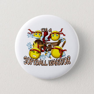 Softball Warrior 6 Cm Round Badge