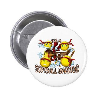 Softball Warrior 6 Cm Round Badge