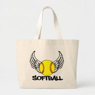 Softball with Wings Jumbo Tote Bag