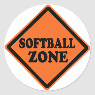 Softball Zone Road Sign Sticker