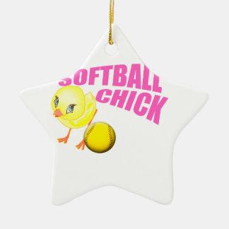 SoftballChick copy.png Ceramic Star Decoration