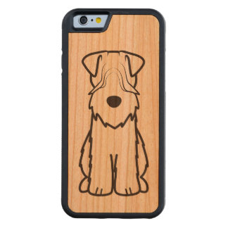 Softcoated Wheaten Terrier Dog Cartoon Carved® Cherry iPhone 6 Bumper Case