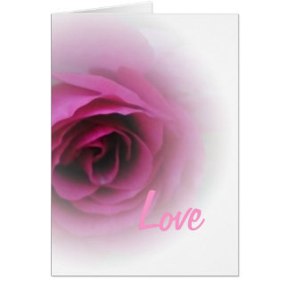 Softest Rose, Love Note Card