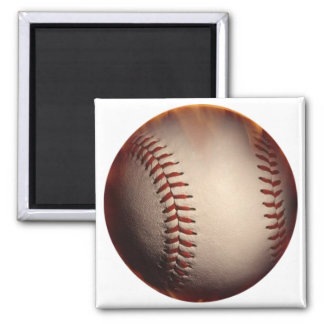 Softly Colored Baseball Changed To Red Magnet