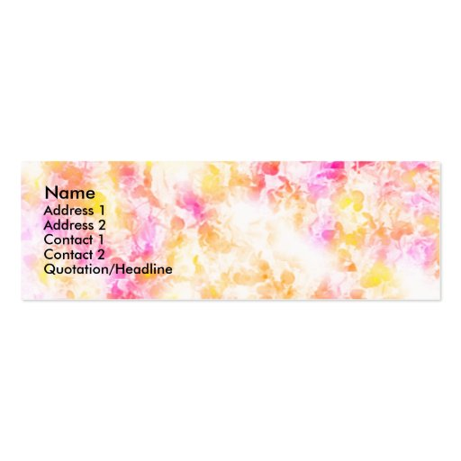 Softly Psychadelic Profile Card Business Card Template