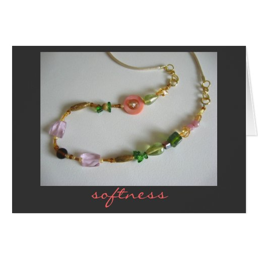 Softness Card of Beaded Necklace