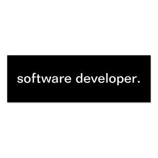 Software Developer Card Pack Of Skinny Business Cards