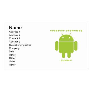 Software Developer Inside (Bug Droid Font Letters) Business Card Templates