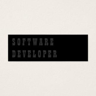 Software Developer Mini Business Card