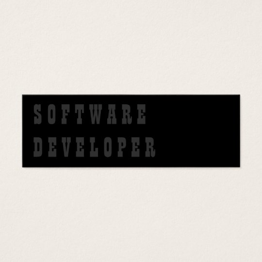 Software Developer Mini Business Card