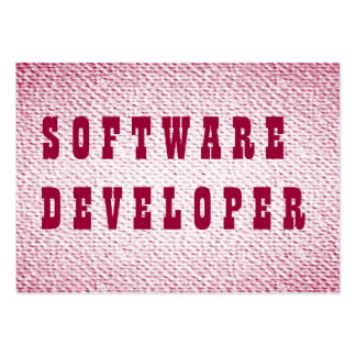 Software Developer Pack Of Chubby Business Cards
